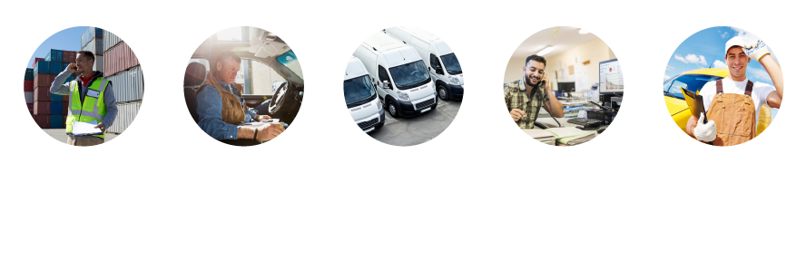 graphical illustration of top 5 benefits of fleet management