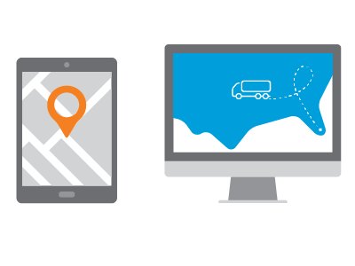 illustration of vehicle tracking software.