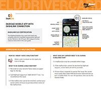 screenshot of the ELD driver card